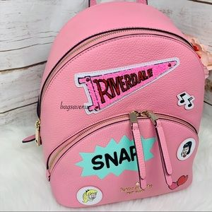 Kate spade riverdale Archie comics backpack pink